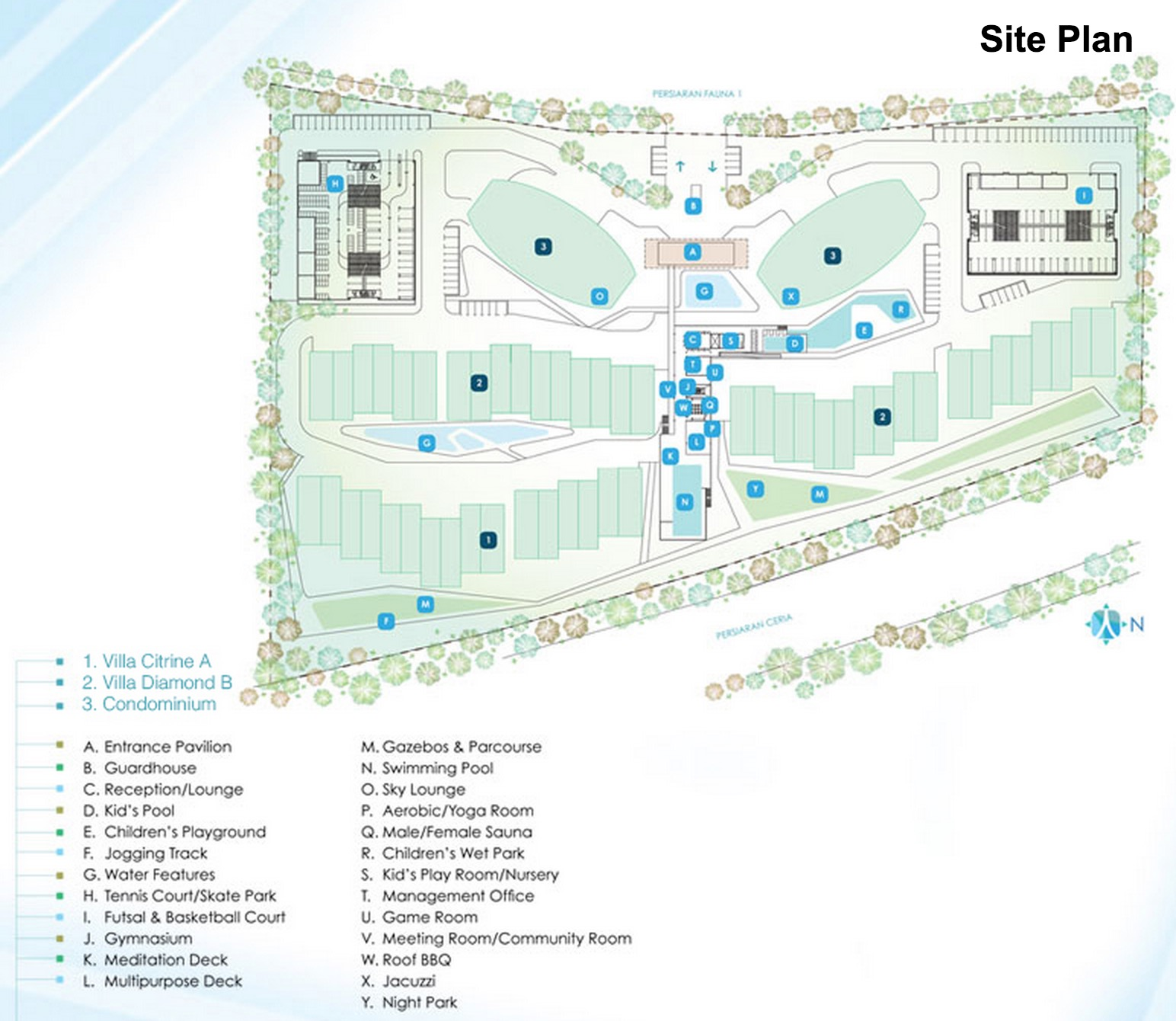 Site Plan of Cristal Residence