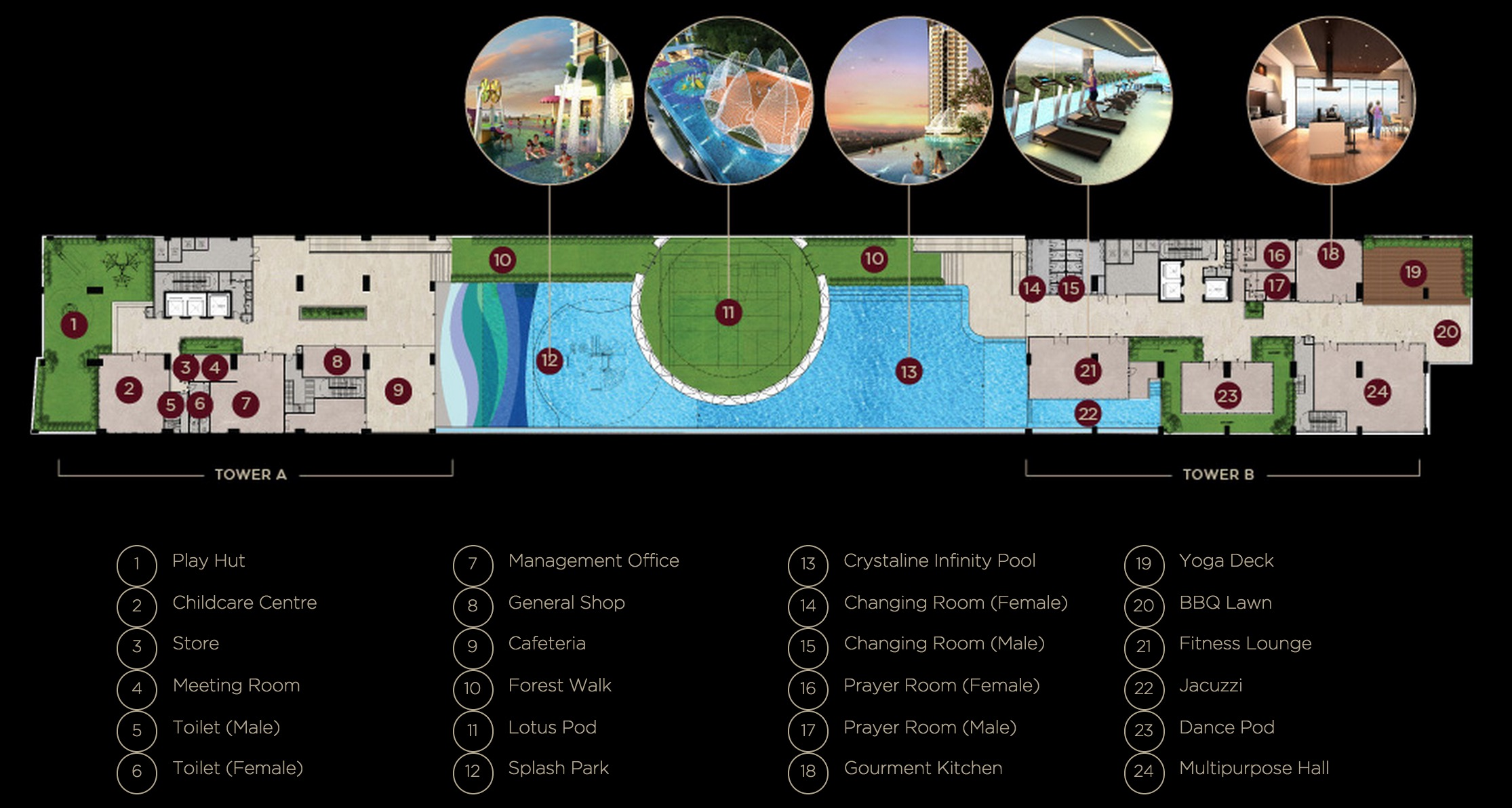 Site Plan of Twinz Residences