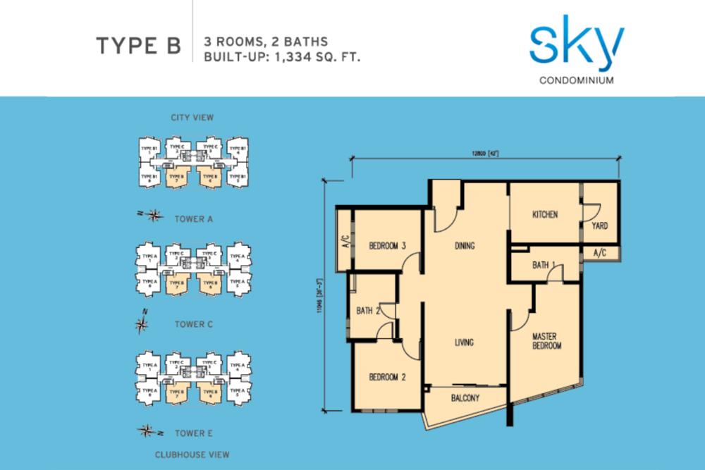 Sky Condominium Type B Floor Plan