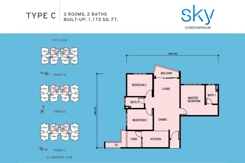 Sky Condominium Type C Floor Plan