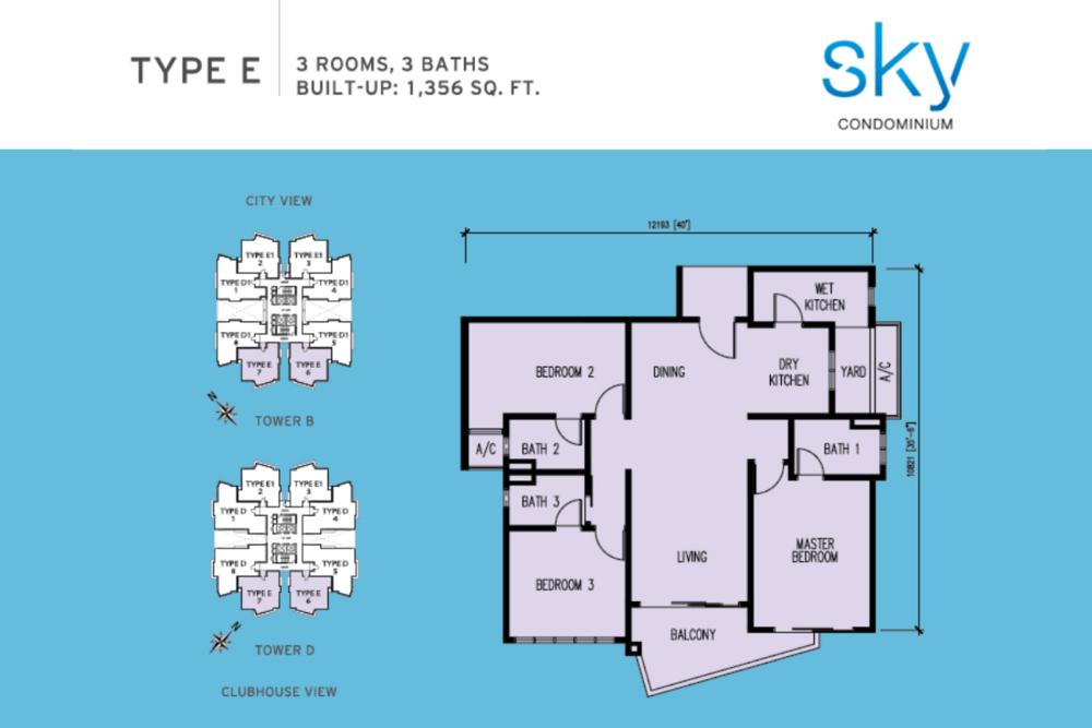 Sky Condominium Type E Floor Plan