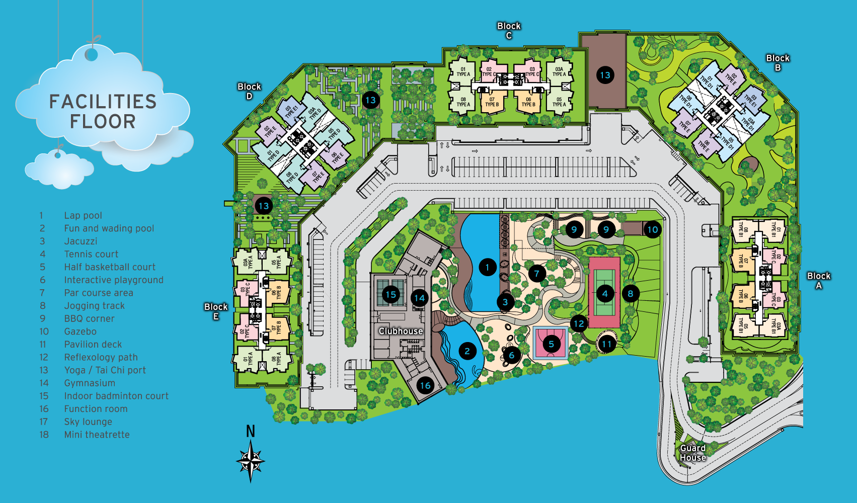 Site Plan of Sky Condominium