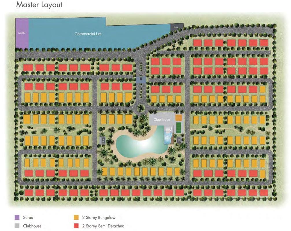 Master Plan of d'Laman Greenville