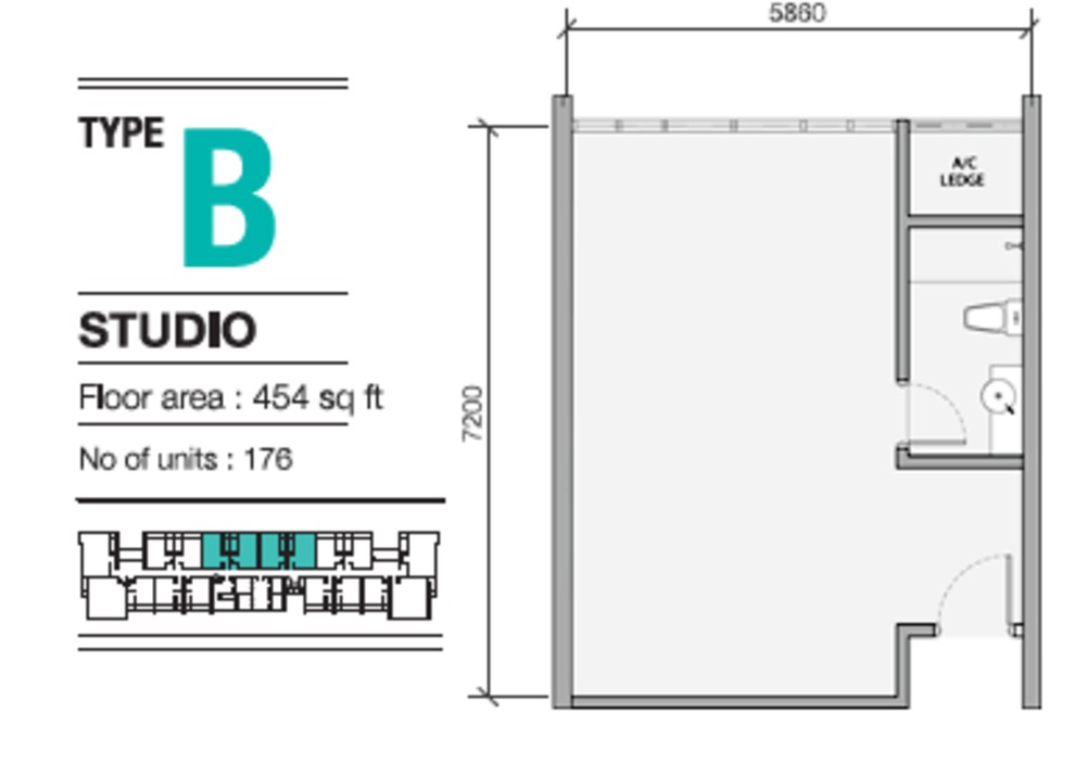 EVO Soho Suites Type B Floor Plan