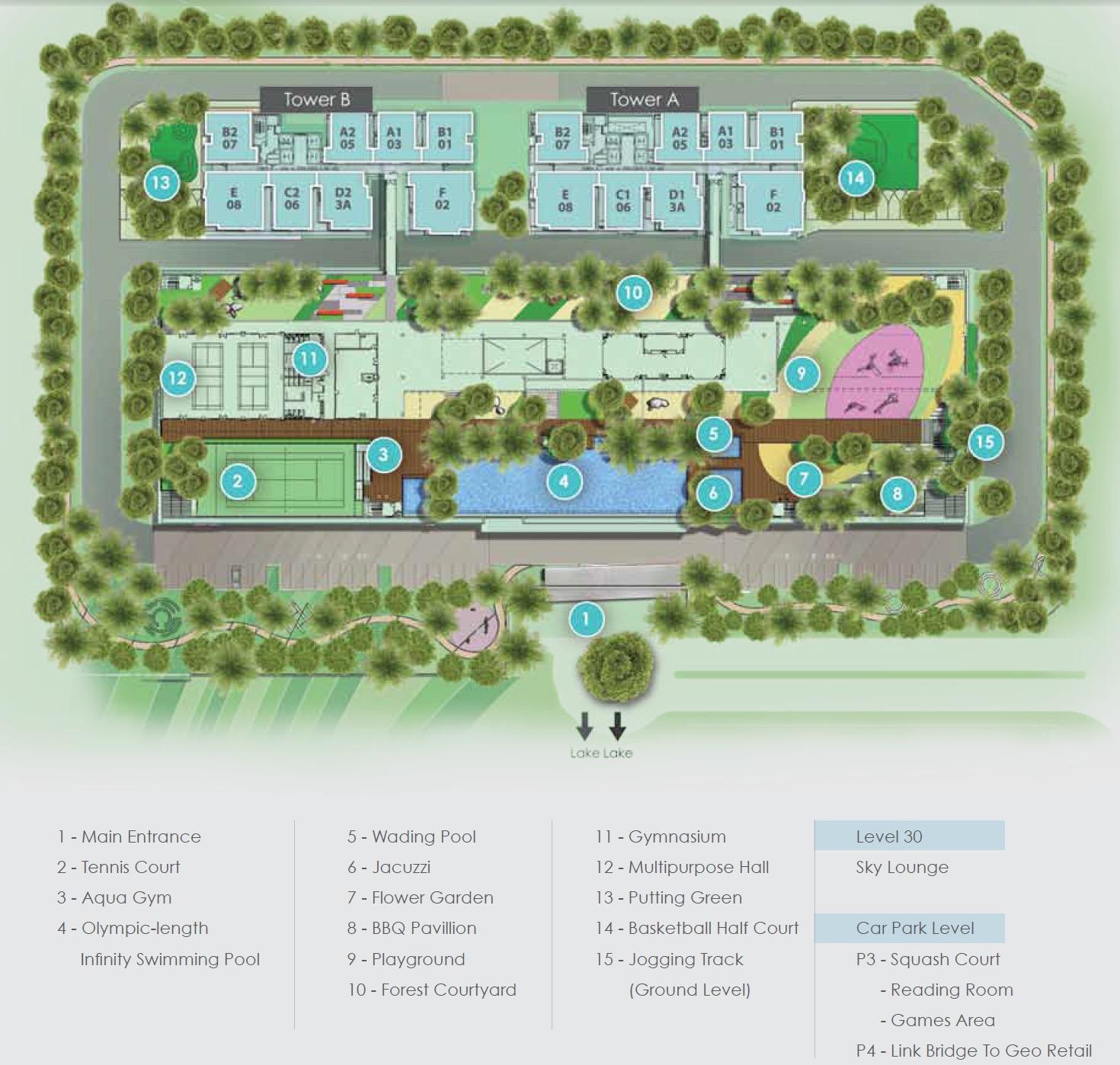 Site Plan of Sunway GEO Residences
