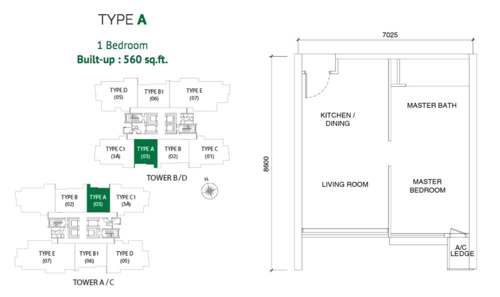 Astoria Type A Floor Plan
