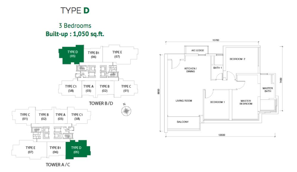 Astoria Type D Floor Plan
