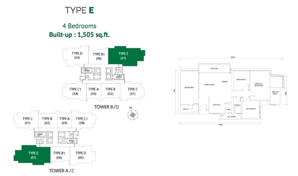 Astoria Type E Floor Plan