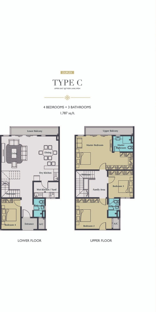 Upper East @ Tiger Lane Type C Floor Plan