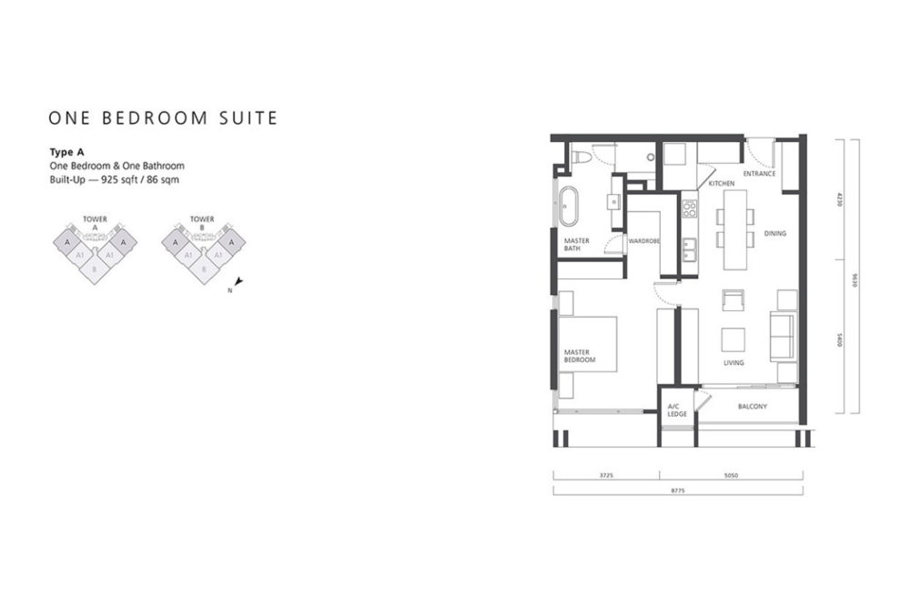 The Mews Type A Floor Plan