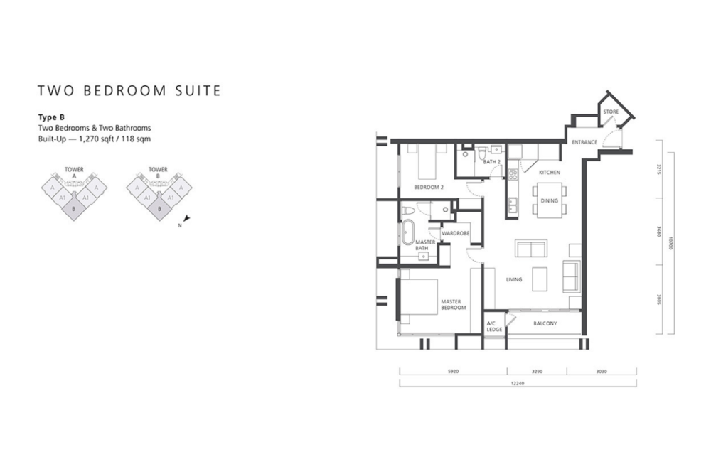 The Mews Type B Floor Plan
