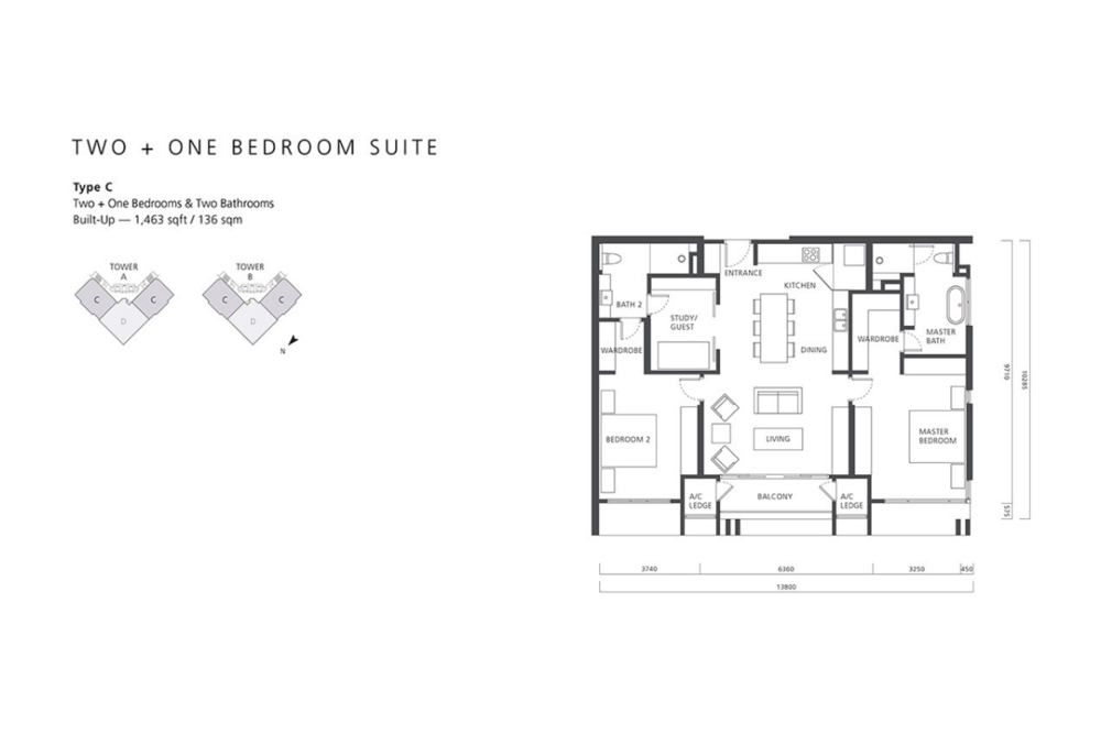 The Mews Type C Floor Plan
