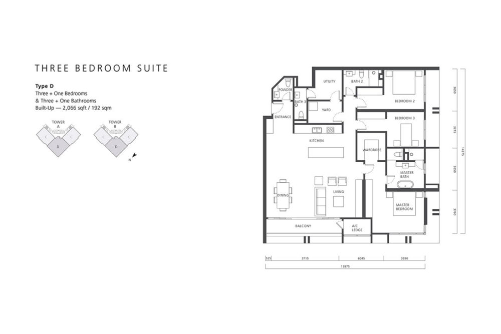 The Mews Type D Floor Plan