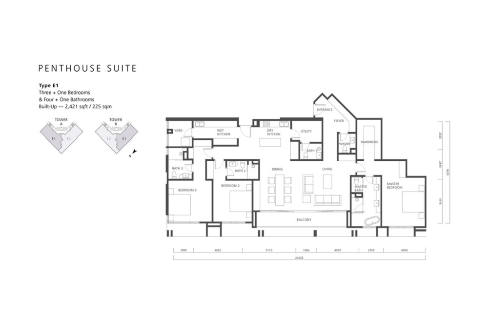 The Mews Type E1 Floor Plan