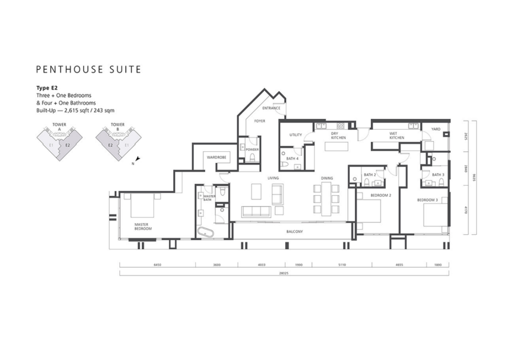 The Mews Type E2 Floor Plan