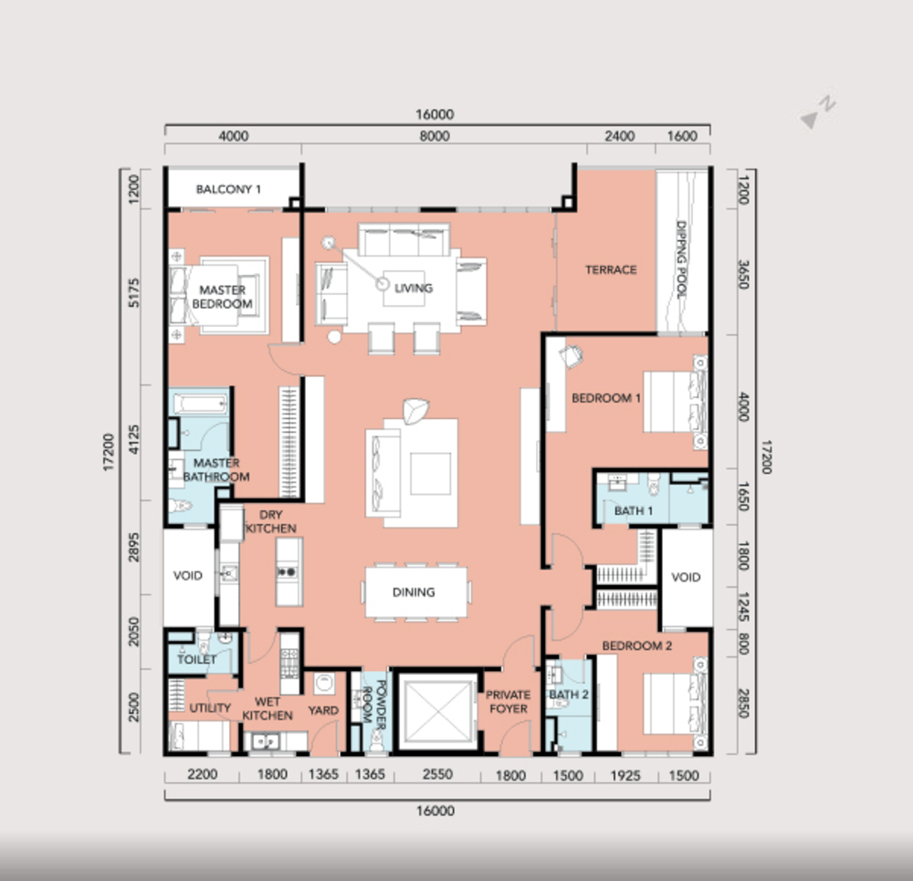 Anjali @ North Kiara Villa - Type C1 Floor Plan