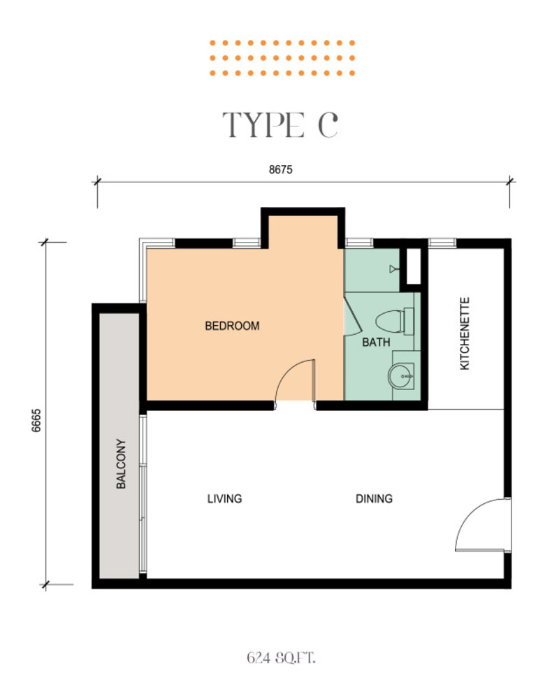Epic Residence Type C Floor Plan