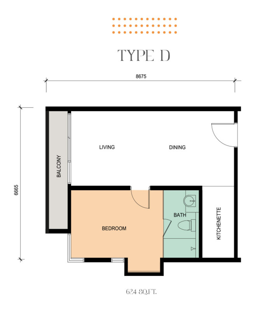 Epic Residence Type D Floor Plan