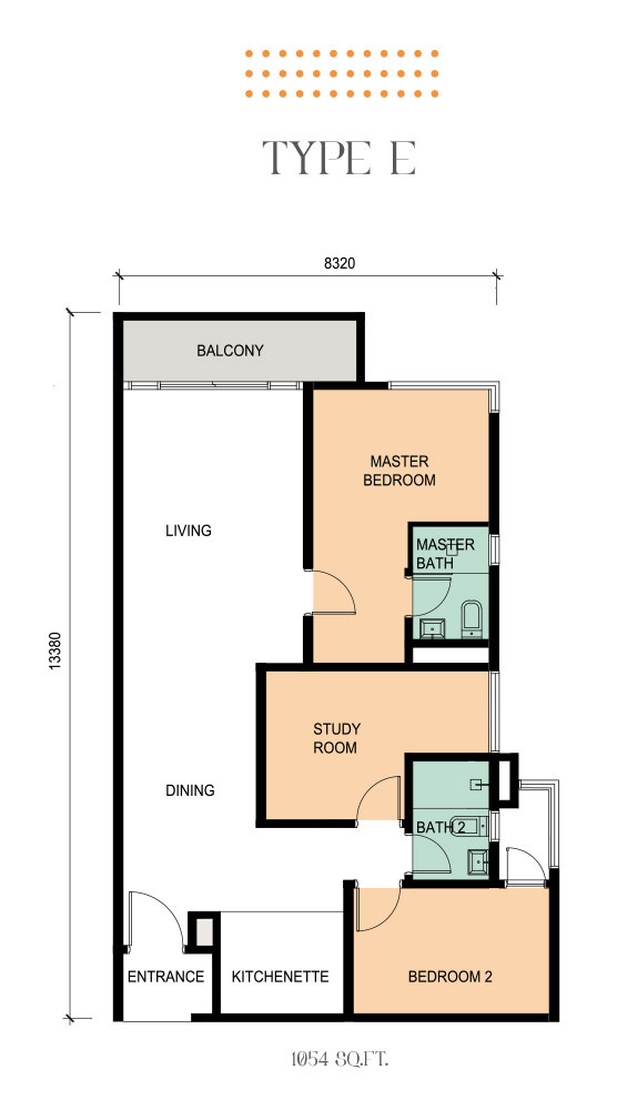Epic Residence Type E Floor Plan