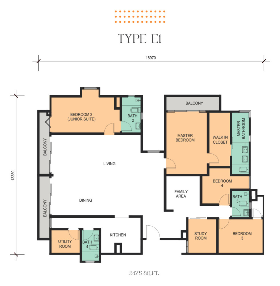 Epic Residence Type E1 Floor Plan
