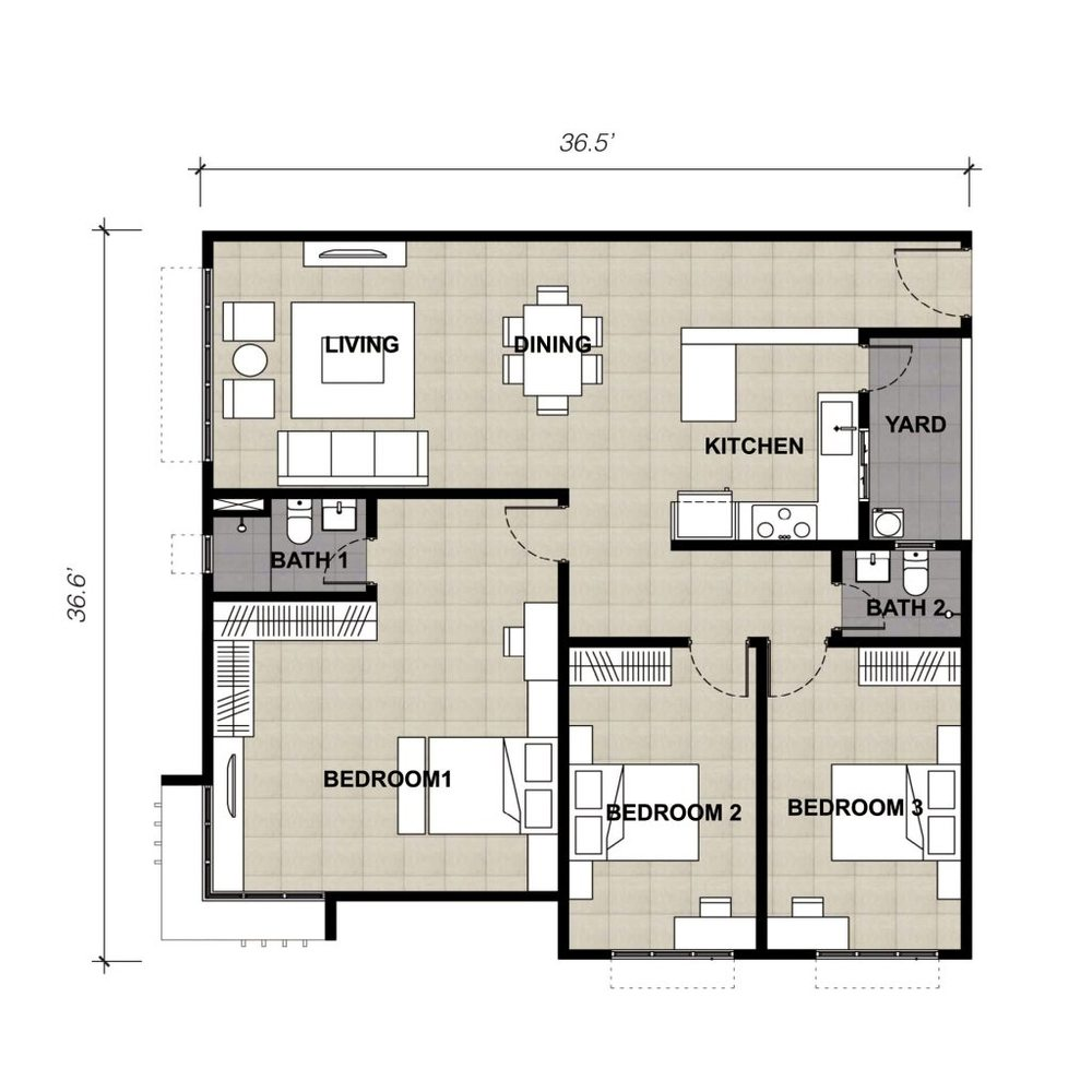 Lake Vista Residence Type 1A Floor Plan