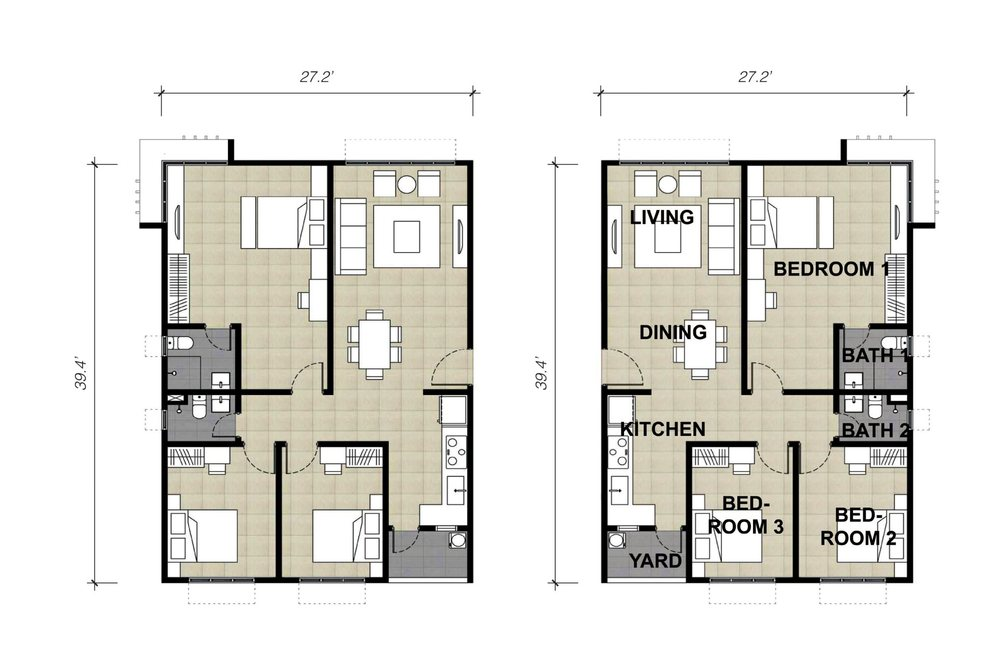 Lake Vista Residence Type 4A & 4B Floor Plan