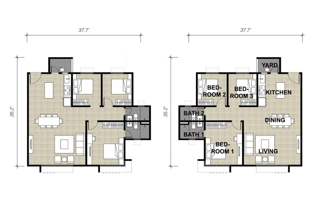Lake Vista Residence Type 5A & 5B Floor Plan