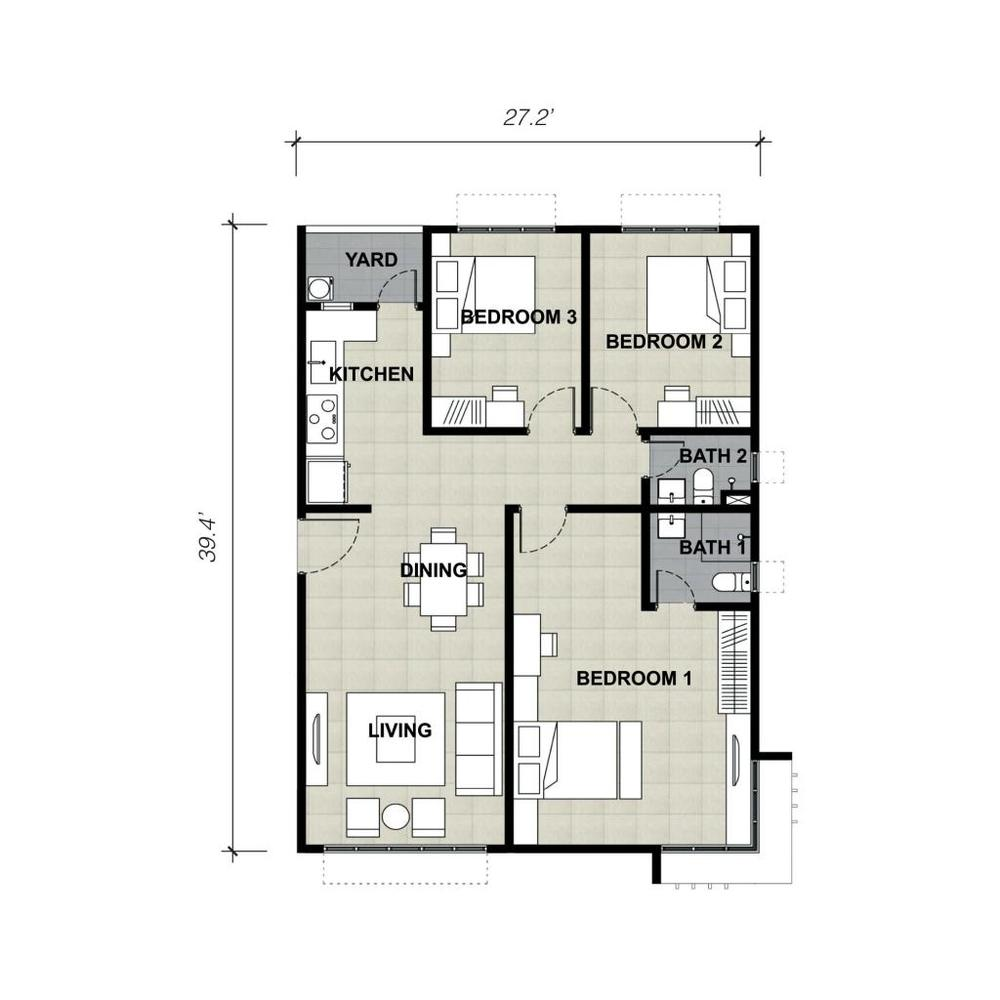 Lake Vista Residence Type 5C Floor Plan