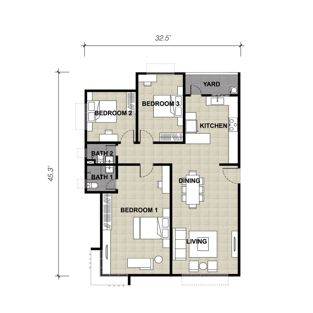 Lake Vista Residence Type 6A Floor Plan