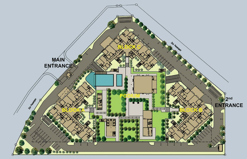 Site Plan of Lake Vista Residence