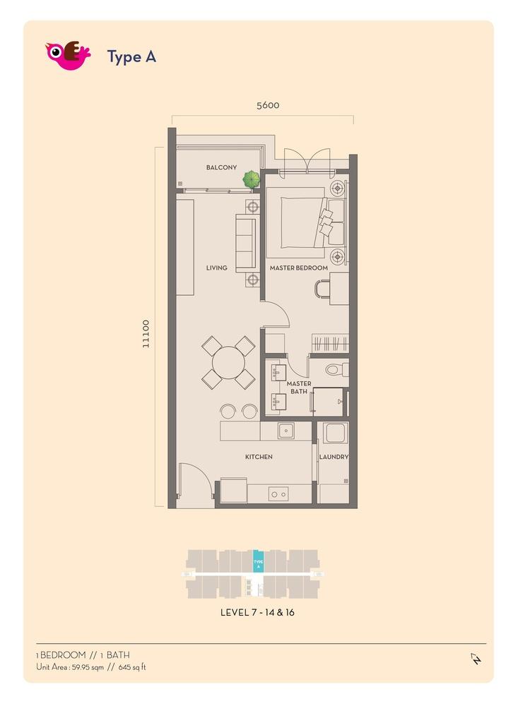 Residency V Type A Floor Plan