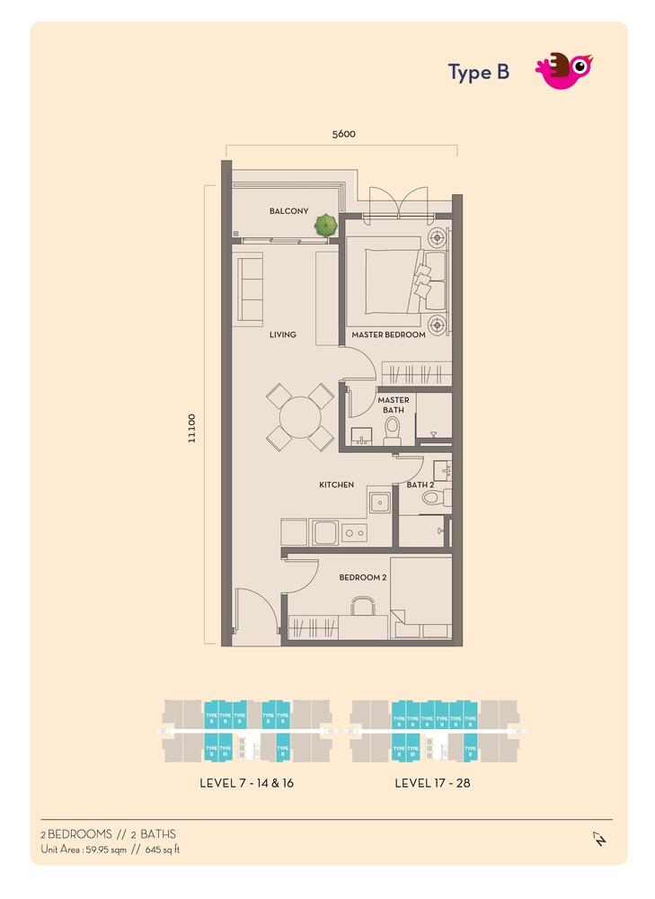 Residency V Type B Floor Plan