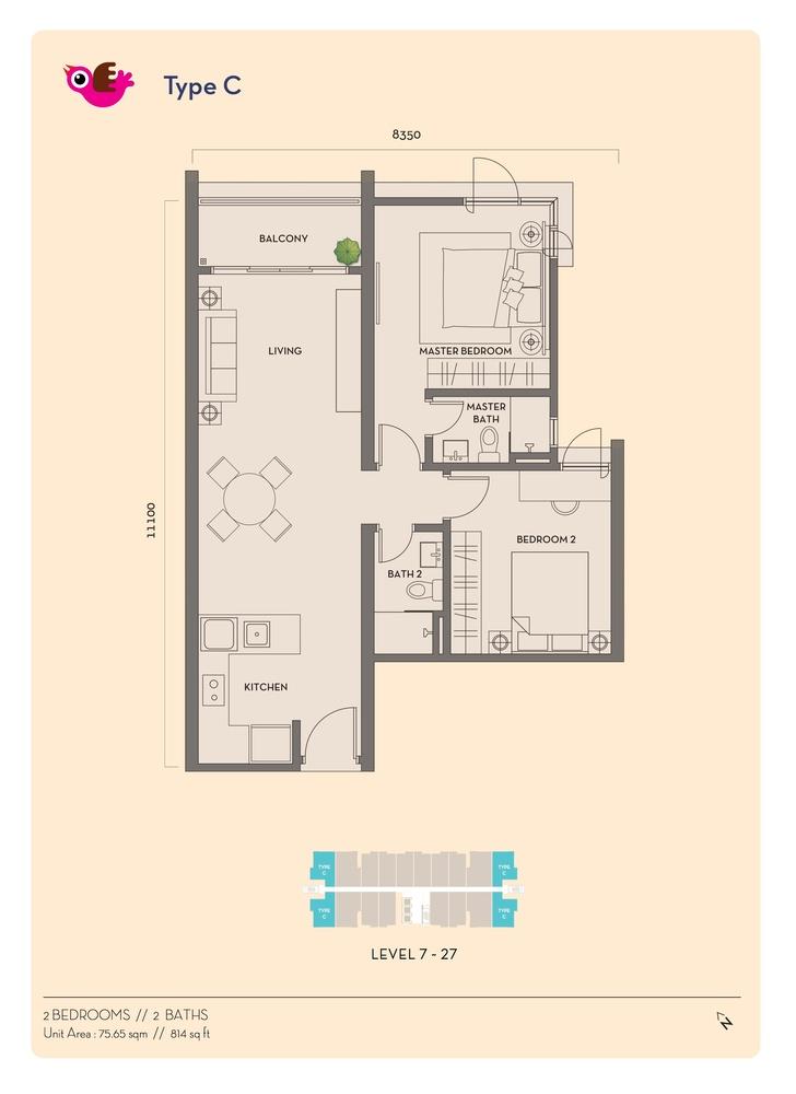 Residency V Type C Floor Plan