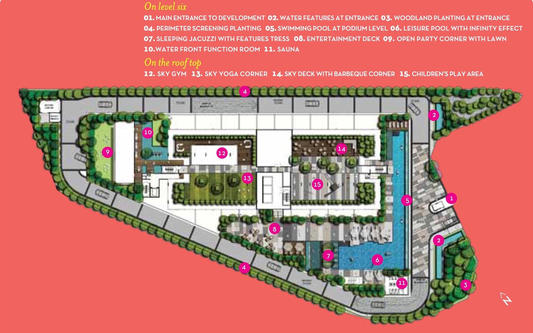 Site Plan of Residency V