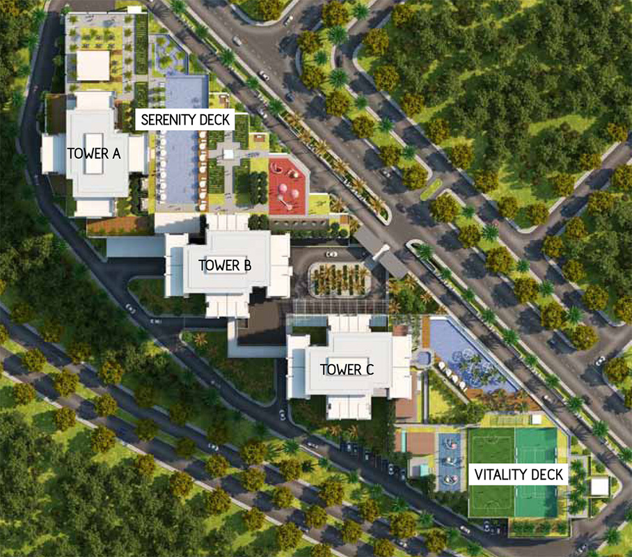 Master Plan of Infiniti3 Residences