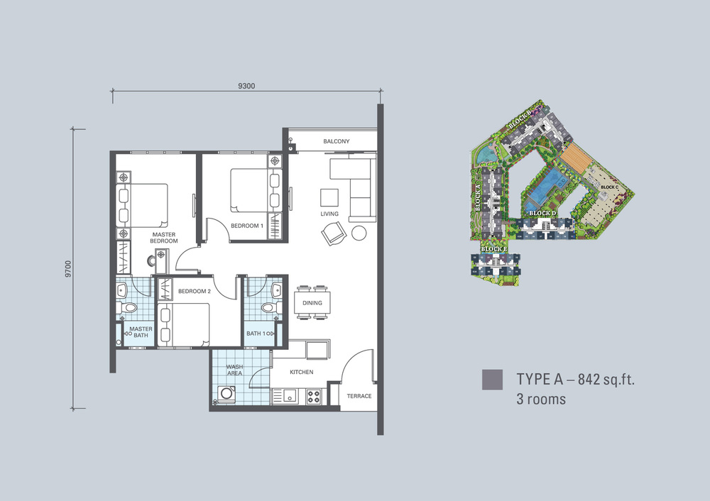 KL Traders Square Type A Floor Plan
