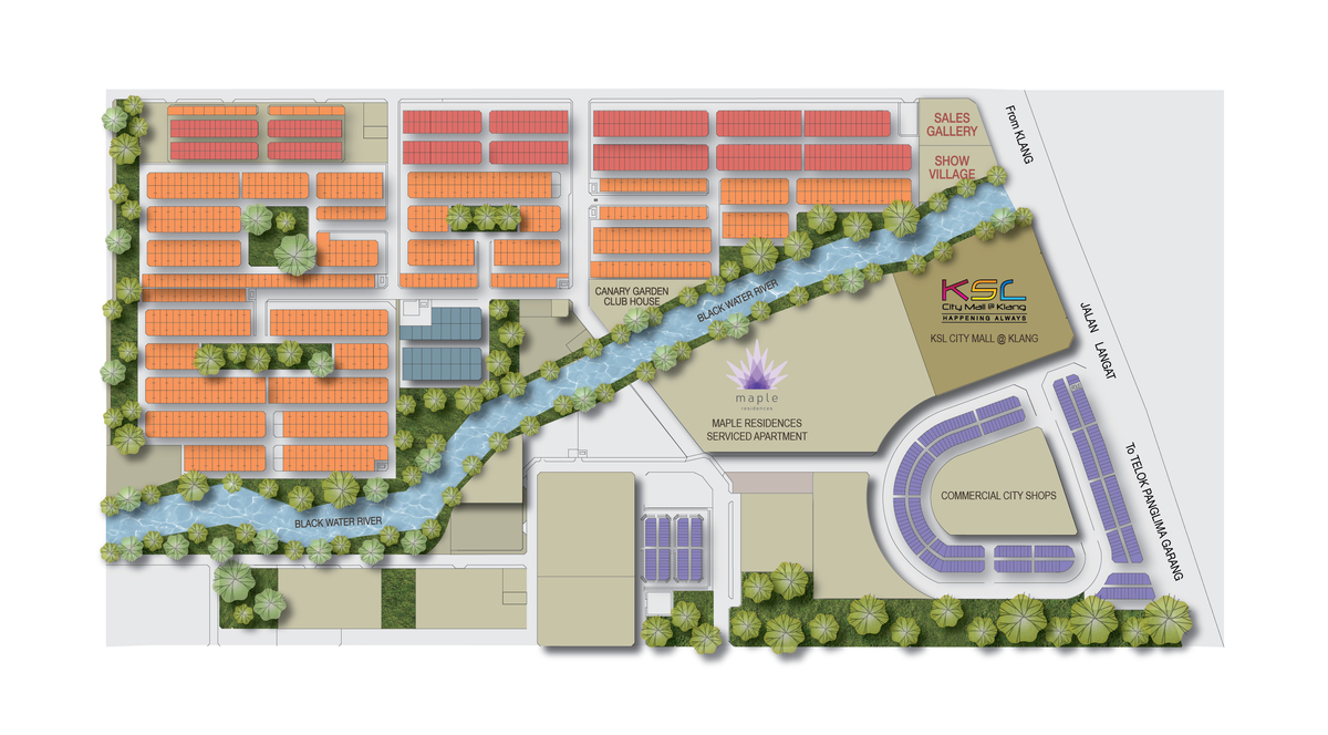 Master Plan of Maple Residences