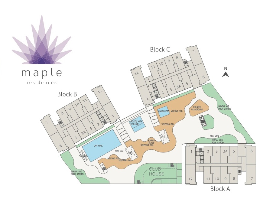 Site Plan of Maple Residences