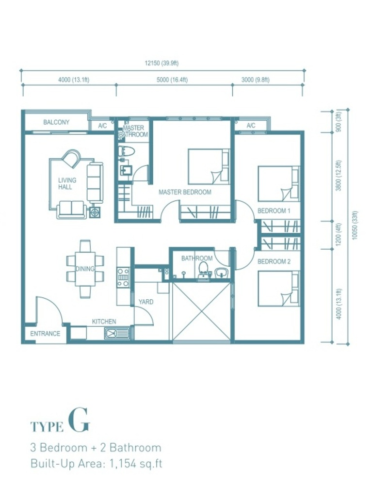 Trinity Aquata Type G Floor Plan