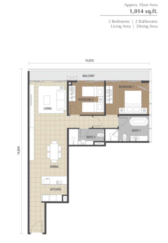 Dorsett Residences Type E Floor Plan