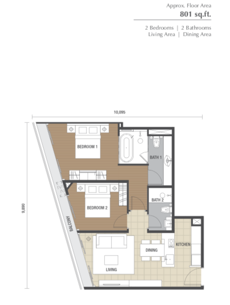 Dorsett Residences Type G Floor Plan