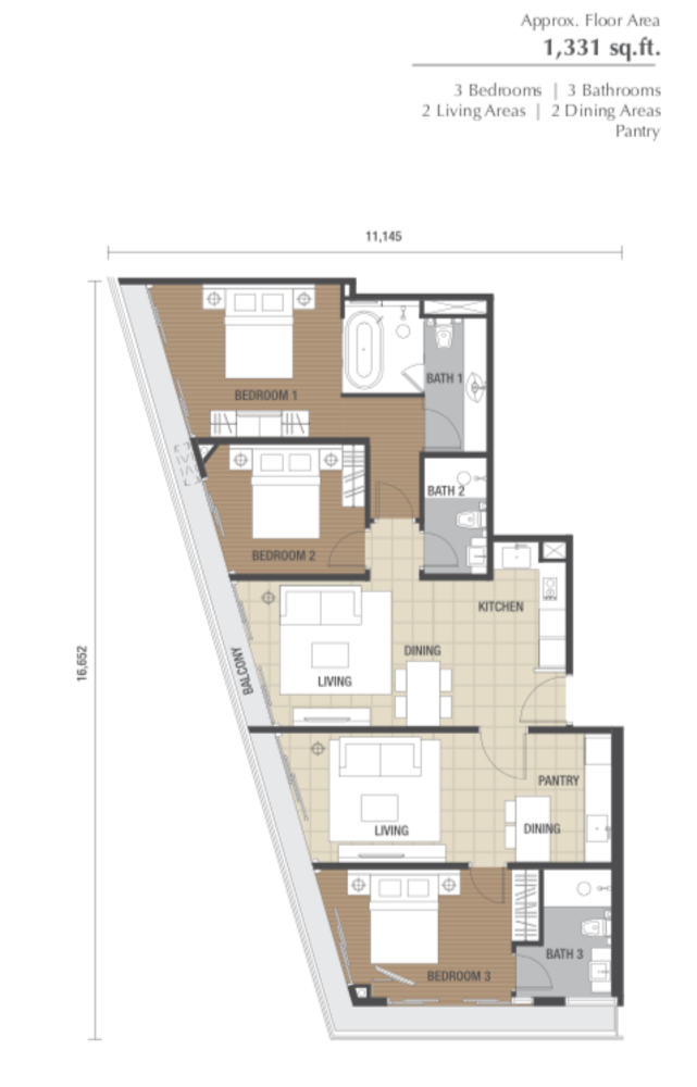 Dorsett Residences Type I Floor Plan