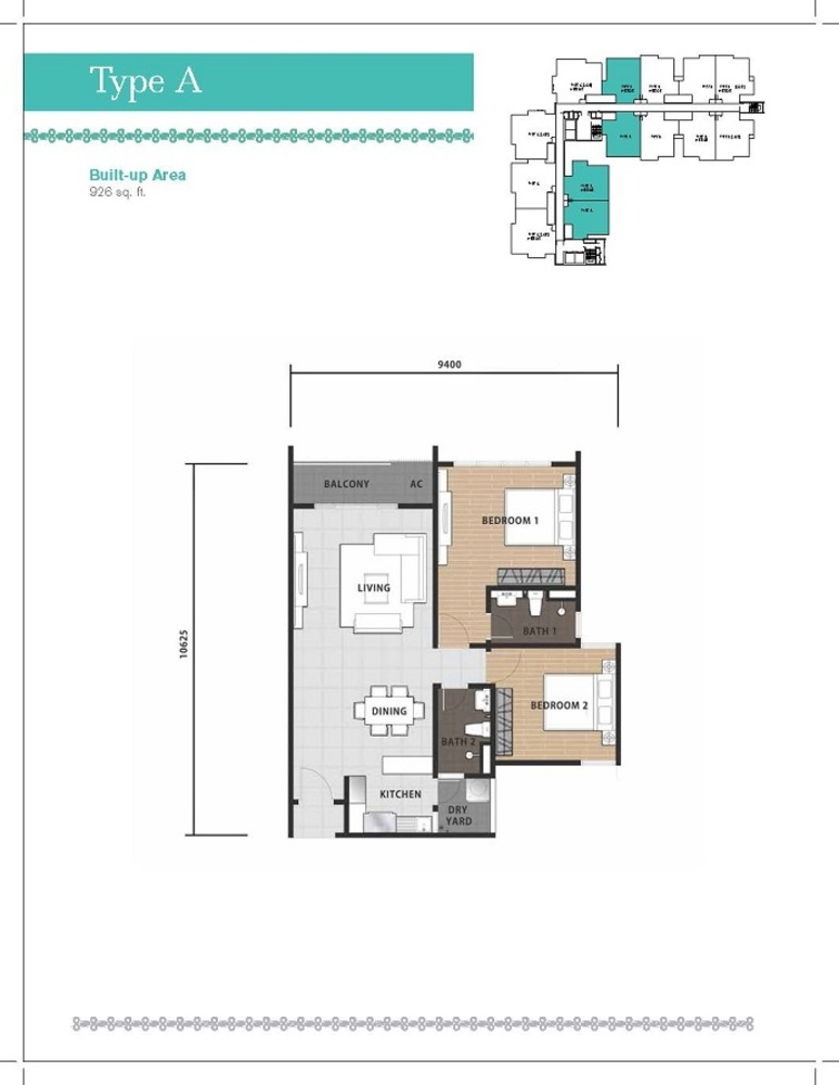 Temasya 8 Type A Floor Plan