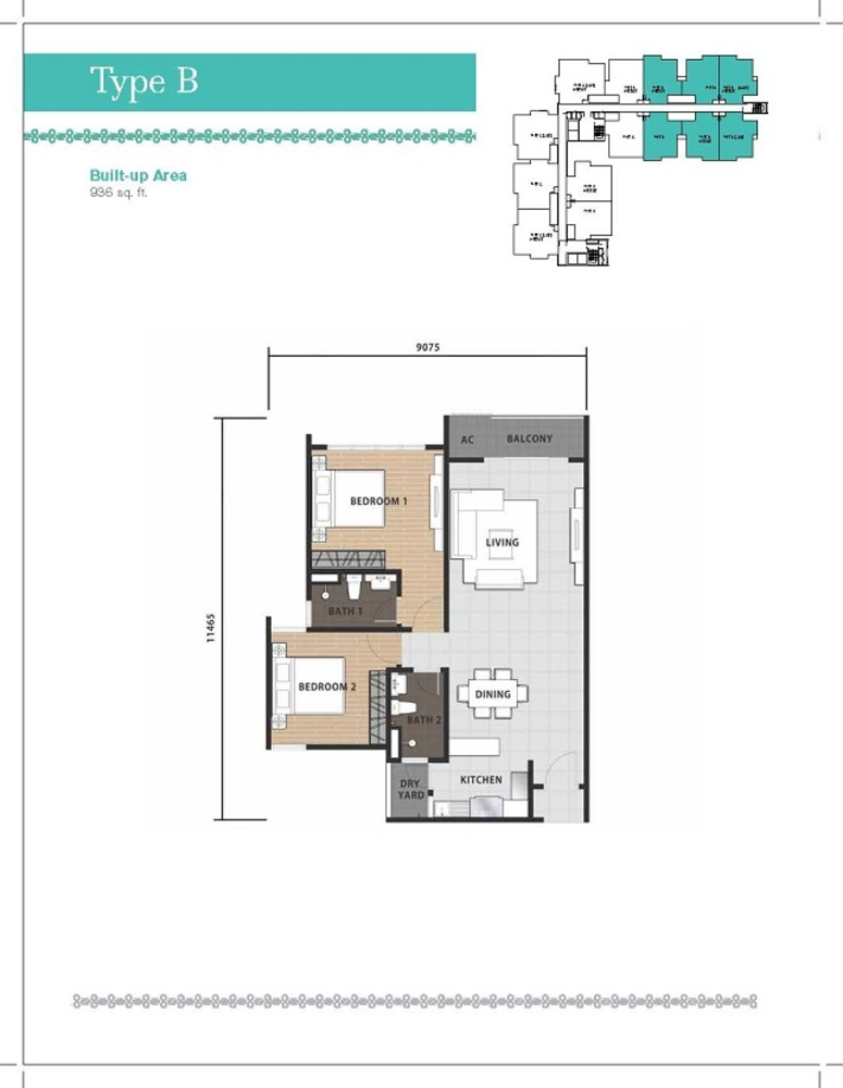 Temasya 8 Type B Floor Plan