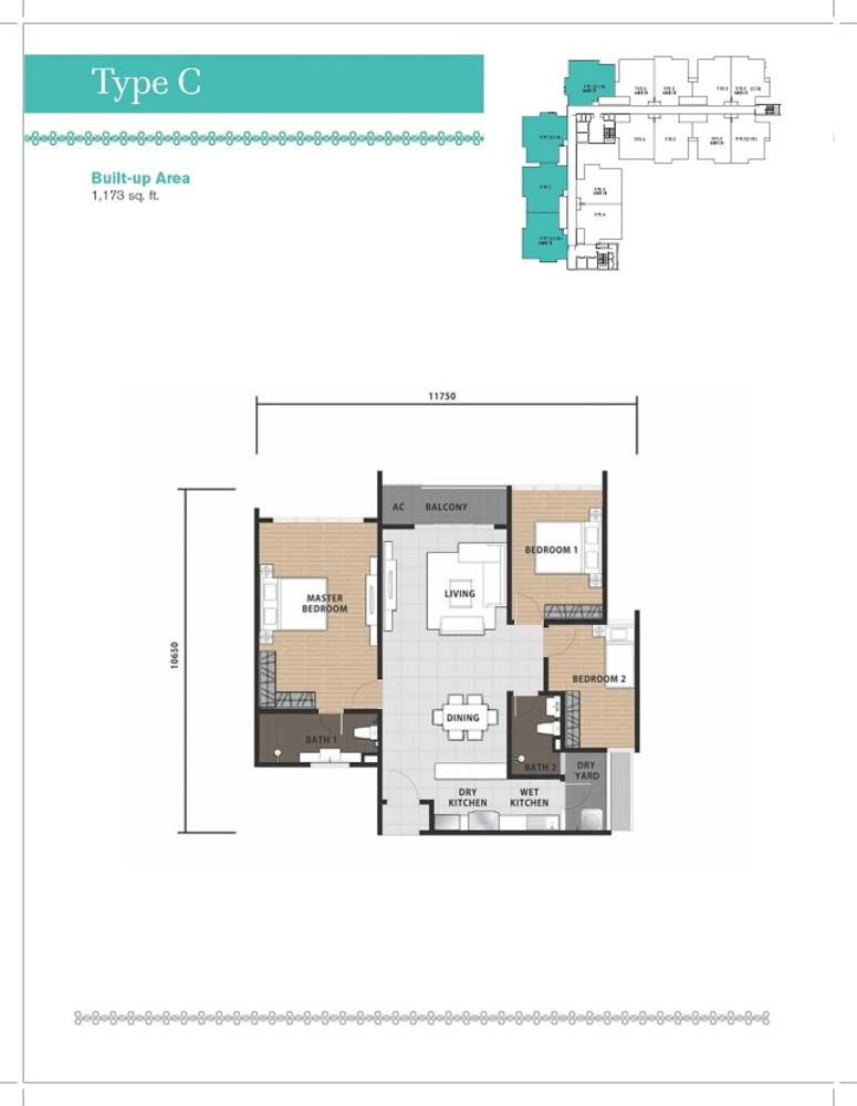 Temasya 8 Type C Floor Plan