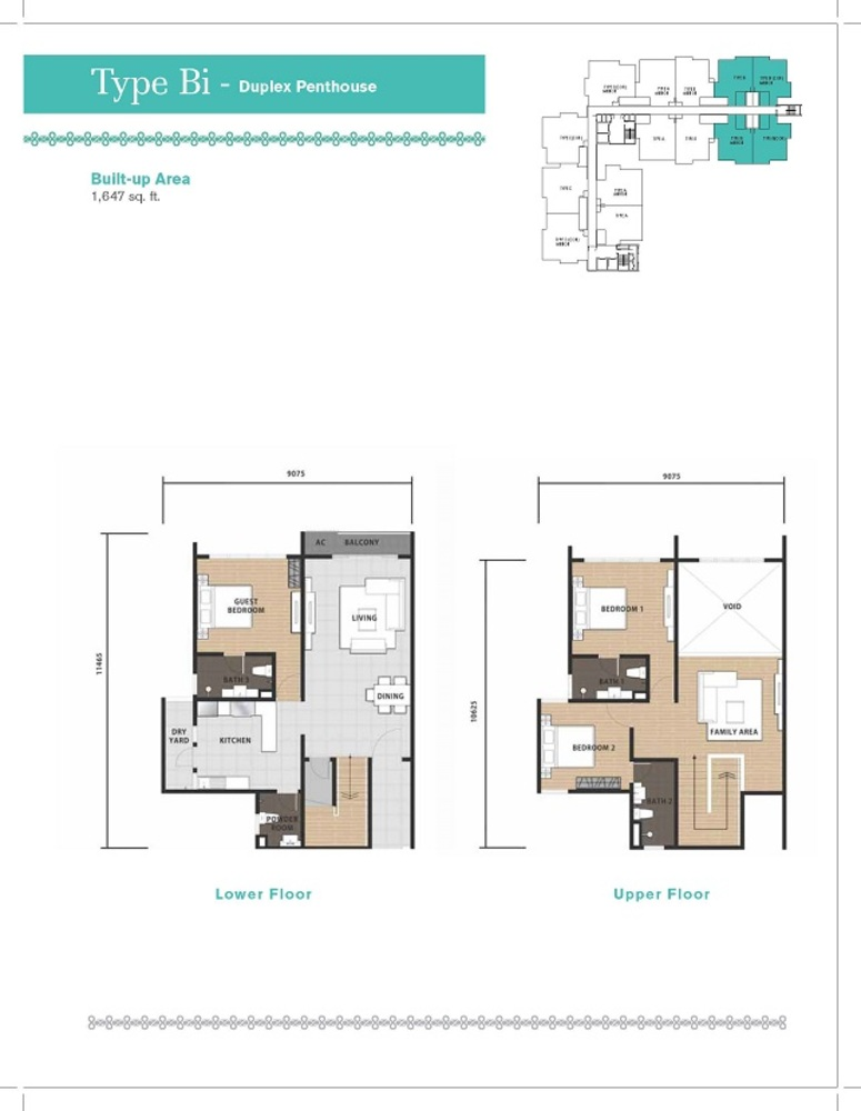 Temasya 8 Type Bi Floor Plan