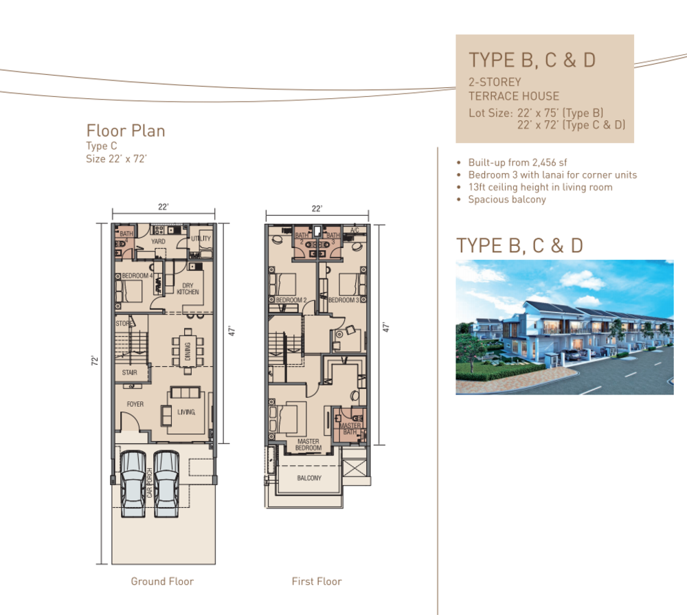 Aquamarine Type B, C & D Floor Plan