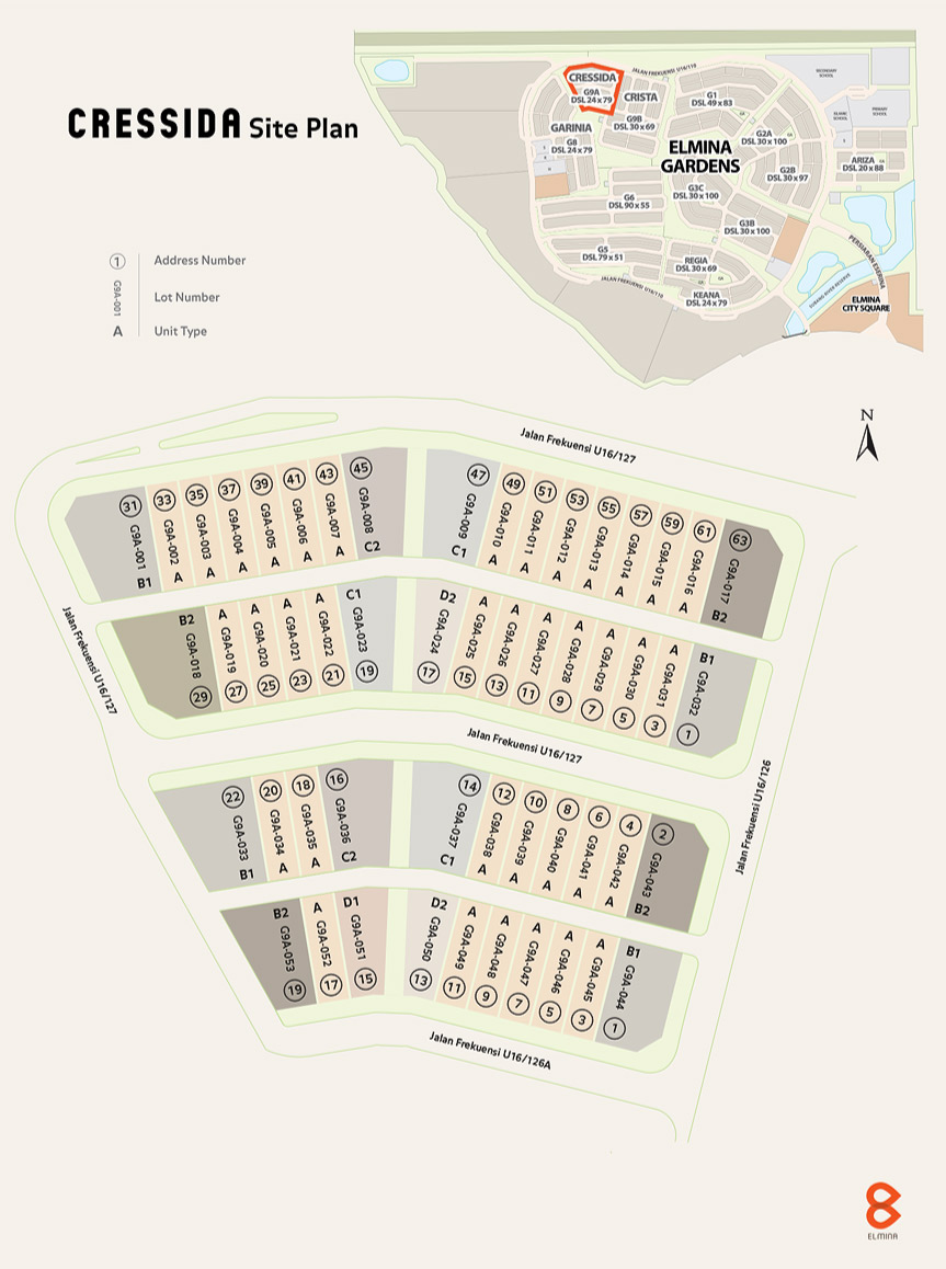 Site Plan of Cressida