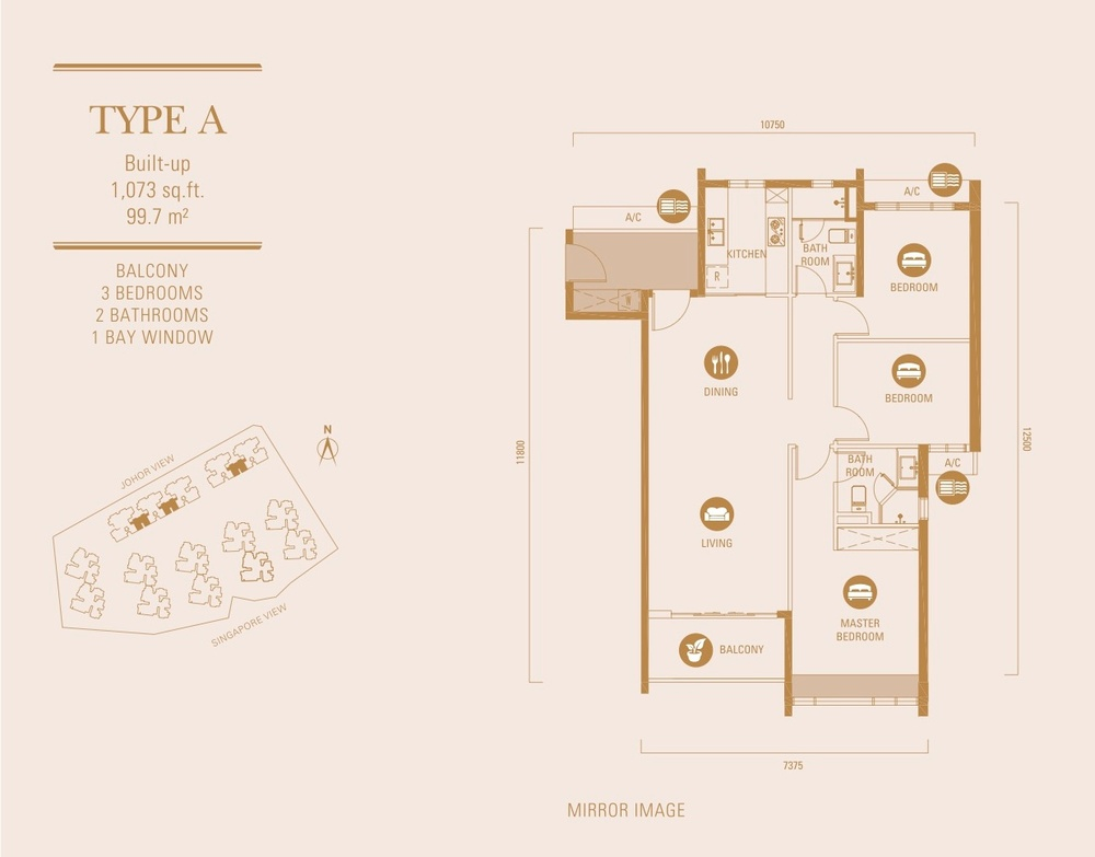 R&F Princess Cove Type A Floor Plan