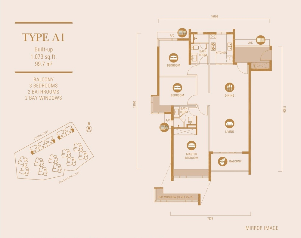 R&F Princess Cove Type A1 Floor Plan